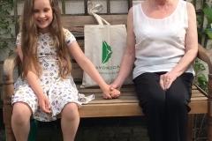 The Lavoro Care bag on tour in a Burscough Cottage Garden